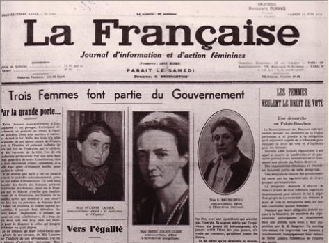 """Résultat de recherche d'images pour """"irene joliot curie front populaire"""""""